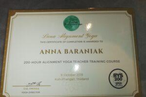 200 godzin nauczyciel jogi