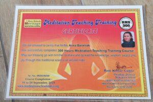 300 godzin nauczyciel medytacji